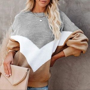 Sweaters - 🍁Oversized Chevron Knit Sweater🍁